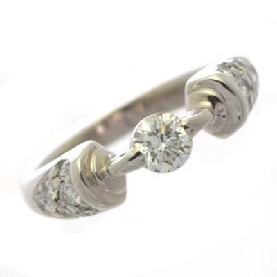 リング Pt900 ダイヤモンド 0.31ct 0.27ct 重量5.5g サイズ7号 レディース ジュエリー