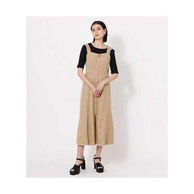 [アズールバイマウジー] ワンピース ドレス ZIP UP JUMPER DRESS 250DSS13-134D (ベージュ M)