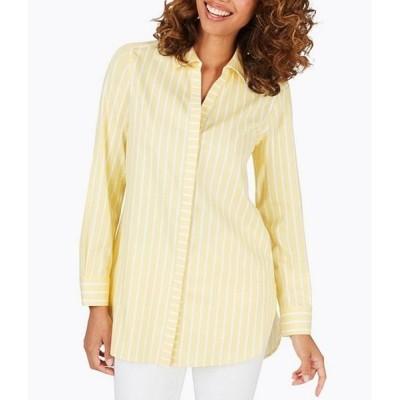 フォックスクラフト レディース シャツ トップス Vera Long Sleeve Striped Shirt