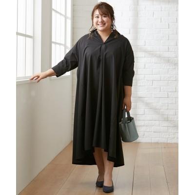 大きいサイズ ブロードAラインワンピース ,スマイルランド, ワンピース, plus size dress