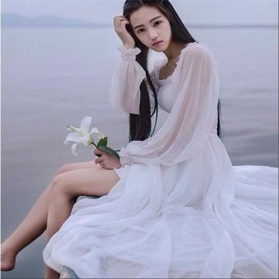 マキシ丈ワンピース ロングワンピース シフォンワンピース ドレス マキシ丈 ドレス パーティー ピンク ロング ボヘミア風