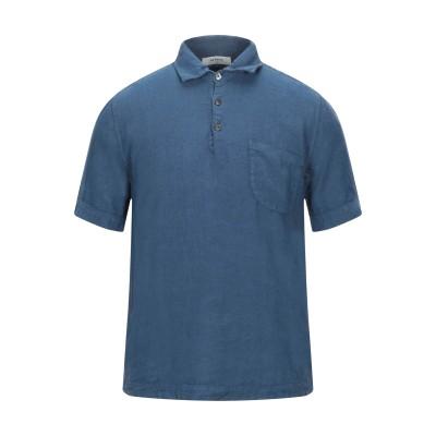 アルファスタジオ ALPHA STUDIO シャツ ブルー 52 リネン 100% シャツ