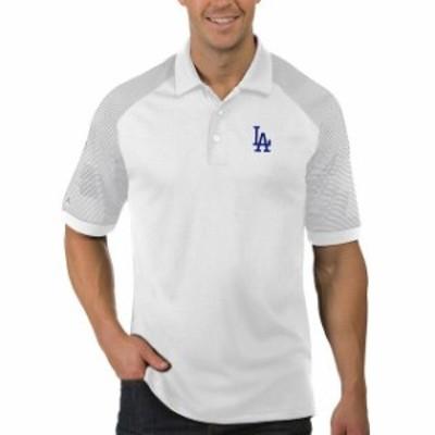 Antigua アンティグア スポーツ用品  Antigua Los Angeles Dodgers White/Gray Engage Polo