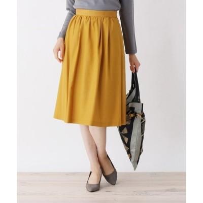 スカート 【大きいサイズあり・17号・19号】カラー選べる!タックフレアスカート