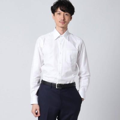 タケオ キクチ TAKEO KIKUCHI シャドーチェックシャツ (ホワイト)