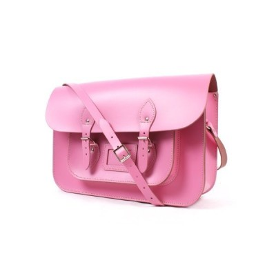 "14"" Baby Pink Real Leather Satchel Co - Classic Retro Fashion laptop / school bag 並行輸入品"