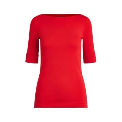 LAUREN RALPH LAUREN Tシャツ  レディースファッション  トップス  Tシャツ、カットソー  半袖 レッド