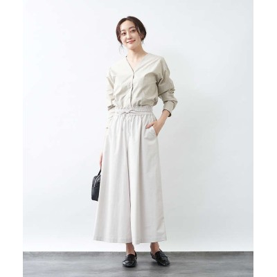 【collex】 Aライン綿サテンスカート レディース ホワイト 36 collex