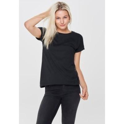 ジェイディーワイ レディース Tシャツ トップス JDYLOUISA LIFEFOLD UP TOP - Basic T-shirt - black black