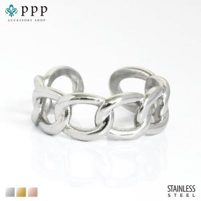 ステンレス リング(179)チェーンリング 銀色(メイン) 指輪 金属アレルギー対応 レディース メンズ 送料無料 ステンレス 指輪 サージカル