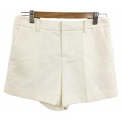 【中古】ボールジー BALLSEY トゥモローランド パンツ ショート ウール 36 白 オフホワイト ホワイト レディース