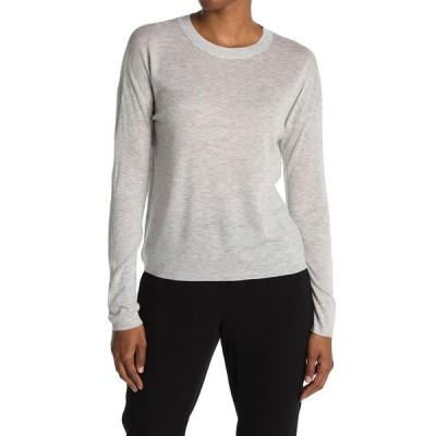 ヴィンス レディース ニット&セーター アウター Long Sleeve Wool Blend Sweater Tee H GREY