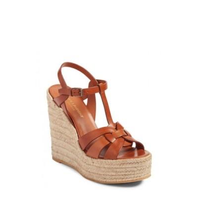 イヴ サンローラン SAINT LAURENT レディース エスパドリーユ ウェッジソール シューズ・靴 Tribute Espadrille Wedge Ambra