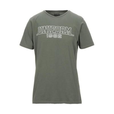 UNIFORM メンズ Tシャツ カットソー トップス ミリタリーグリーン