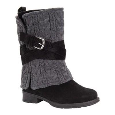 ムクルクス レディース ブーツ&レインブーツ シューズ Nikita Mid Calf Boot Black/Grey Polyester/Synthetic