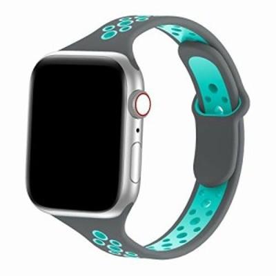 LSlight コンパチブル Apple Watch バンド シリコン アップルウォッチ バンド スポーツ バンド 交換ベルト 柔らかい 通気性 Apple Watch