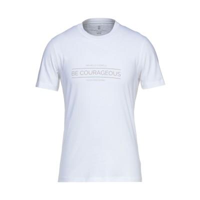 ブルネロ クチネリ BRUNELLO CUCINELLI T シャツ ホワイト S コットン 100% T シャツ
