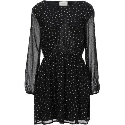 VICOLO ミニワンピース&ドレス ブラック S ポリエステル 100% ミニワンピース&ドレス