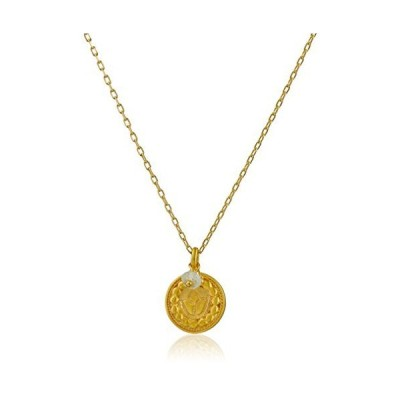 "Satya Jewelry Gold March Birthstone Necklace, 18""【並行輸入品】"
