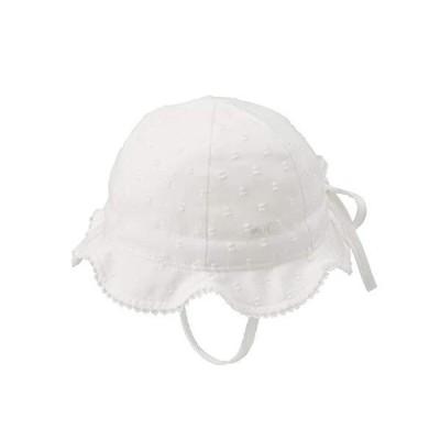 [ミキハウス] チューリップハット 42-9101-382 女の子 ベビー キッズ 赤ちゃん 子供 帽子 M 白