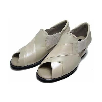 セール品 返品交換不可 アルデバラン Aldebaran オープントゥカジュアルシューズ ベージュ レディース・靴