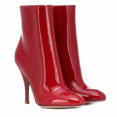 ヴァレンティノ ブーツ Garavani Killer Stud patent leather ankle boots Valentino Red