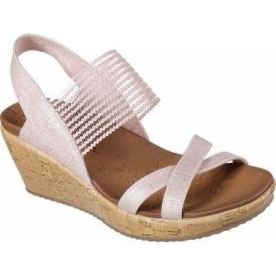 スケッチャーズ Skechers レディース サンダル・ミュール シューズ・靴 Beverlee High Tea Wedge Sandal Pink