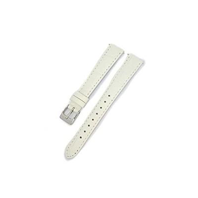 【新品・送料無料】CASSIS[カシス] カーフ 型押し 時計ベルト 裏面防水素材 AVALLON アバロン 13mm ホワイト 交換用工具付き X1022238017