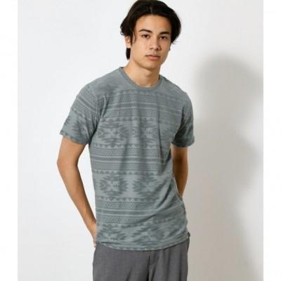 PILE JACQUARD TEE/パイルジャガードTシャツ /メンズ/トップス カットソー  半袖【MARKDOWN】