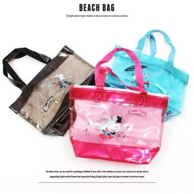 レディース キッズ ビーチバッグ プールバッグ 女の子 ラメ 海水浴 スイミングバッグ 水泳用品 鞄 カバン かばん Finn Boys FINB17S-001