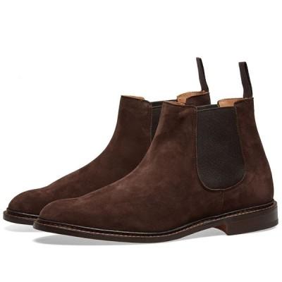 トリッカーズ Trickers メンズ ブーツ チェルシーブーツ シューズ・靴 Tricker's Roxbury Chelsea Boot Coffee Castorino Suede
