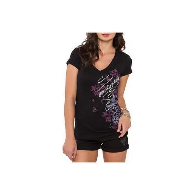 メタルマリーシャ Tシャツ シャツ トップス 半袖 長袖 Metal Mulisha - Metal Mulisha レディース Tシャツ - Cherry Blossom