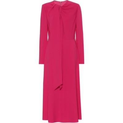 ヴァレンチノガラヴァーニ Valentino / Garavani レディース パーティードレス ミドル丈 ワンピース・ドレス Valentino cady midi dress Shocking Pink