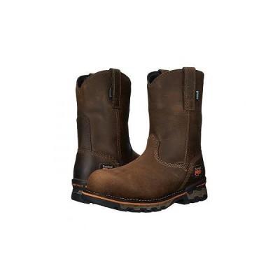 Timberland PRO ティンバーランド メンズ 男性用 シューズ 靴 ブーツ 安全靴 ワーカーブーツ AG Boss Pull-On Alloy Toe - Brown Distressed