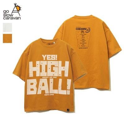 go slow caravan / USA/C YES! HIGHBALL BIG TEE (351913) (ゴースローキャラバン) (メンズ) (2021春夏)
