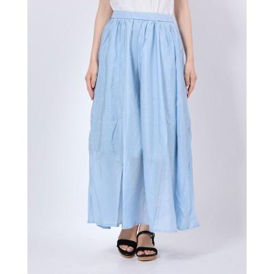 スタイルブロック STYLEBLOCK シアーポプリンフレアスカート (ブルー)