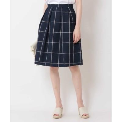 OFUON / 【洗える】チェック柄プリーツスカート WOMEN スカート > スカート