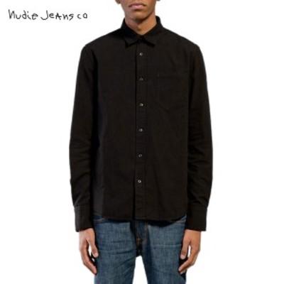 ヌーディージーンズ Nudie Jeans メンズ 長袖シャツ Henry Black 140374  父の日 ギフト プレゼント