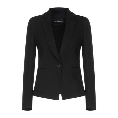 エンポリオ アルマーニ EMPORIO ARMANI テーラードジャケット ブラック 38 バージンウール 99% / ポリウレタン 1% / レー