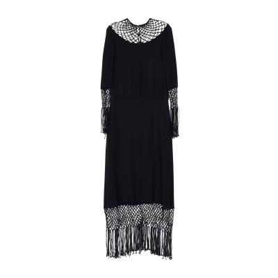 ヴァレンティノ VALENTINO ロングワンピース&ドレス ブラック 44 シルク 100% ロングワンピース&ドレス
