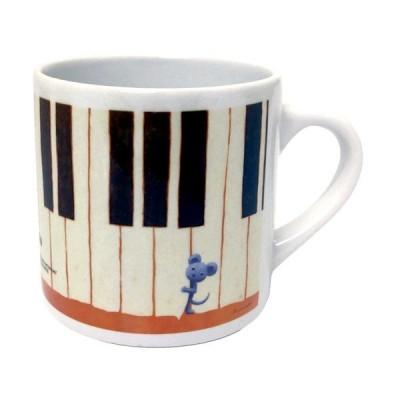 マグカップ 小 山田和明「しあわせのリフレイン」  ミュージック 絵本作家 雑貨 かわいい 動物 楽器
