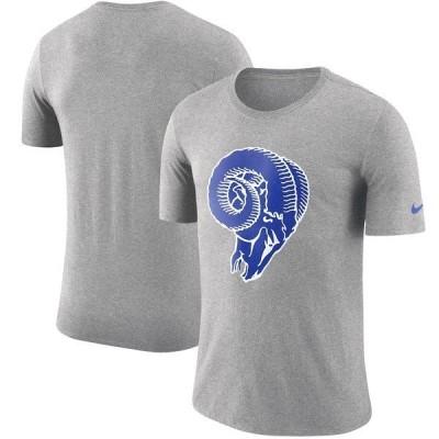 ナイキ メンズ Tシャツ トップス Los Angeles Rams Nike Historic Tri-Blend Crackle T-Shirt