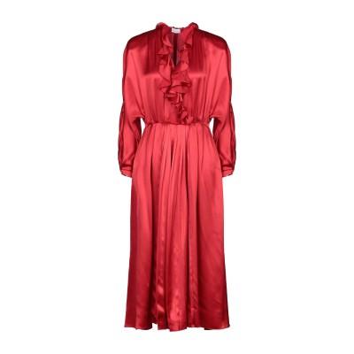 マグダ・ブトリム MAGDA BUTRYM 7分丈ワンピース・ドレス レッド 36 シルク 100% 7分丈ワンピース・ドレス