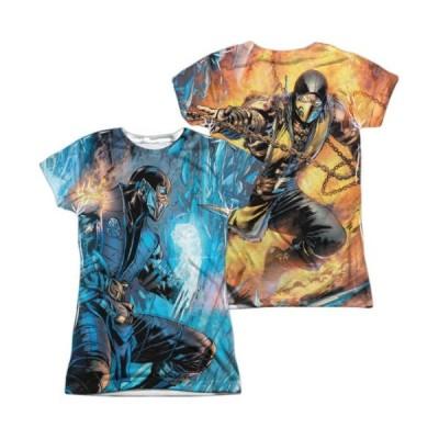 トップス モータルコンバット Mortal Kombat Kombat Comic Front And Back Sublimation Junior T Shirt