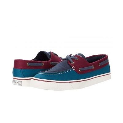 Sperry スペリー レディース 女性用 シューズ 靴 ボートシューズ Biscayne Canvas - Navy/Burgundy/Blue