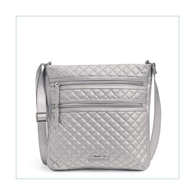 Vera Bradley Signature Cotton Triple Zip Hipster Crossbody Purse, Silver Pearl並行輸入品