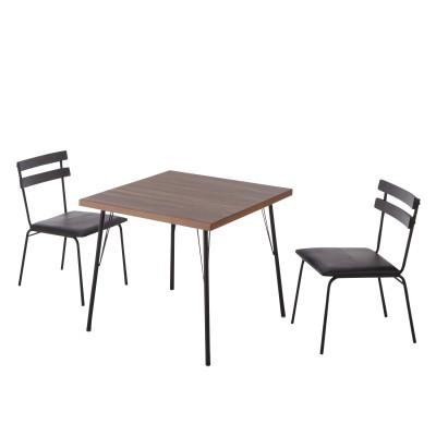 カフェ風ダイニングテーブル3点セット<2人用>