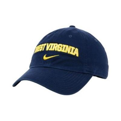 ナイキ メンズ 帽子 アクセサリー West Virginia Mountaineers H86 Wordmark Swoosh Cap Navy