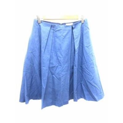 【中古】ボールジー BALLSEY トゥモローランド フレアスカート ひざ丈 36 青 ブルー /YK レディース