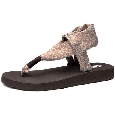 Ducan サンダル レディース 歩きやすい ヨガ サンダル 厚底 柔らかい ビーチサンダル カジュアル トングサンダル 痛くない 大きいサ